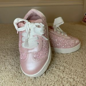 NEW Maggie & Zoe Pink Sparkle Toddler Sneaker